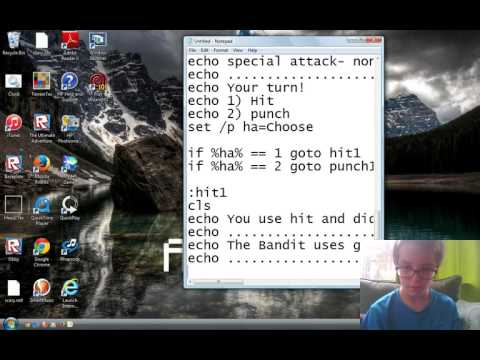 How To Make A Fighting Game In Notepad Part 2