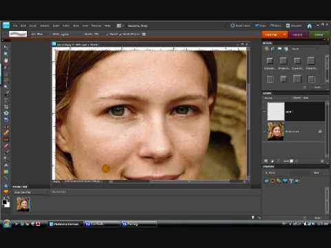 Touch Up Blemishes and Under-Eye Circles In Photos Using Photoshop Elements
