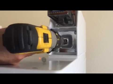 How to open laundry coin box