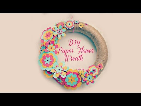 DIY Paper Flower Wreath | Paper Crafts for a baby shower, bridal shower, or garden party