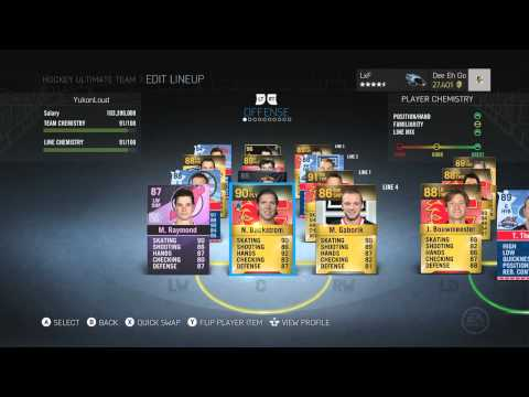 NHL 15 HUT   AMAZING 500K TEAM BUILD (Hockey Ultimate Team)