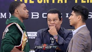 ERROL SPENCE JR AND MIKEY GARCIA COME FACE TO FACE AT FINAL PRESS CONFERENCE 3 DAYS BEFORE PPV FIGHT