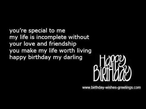 Romantic birthday wishes boyfriend or girlfriend