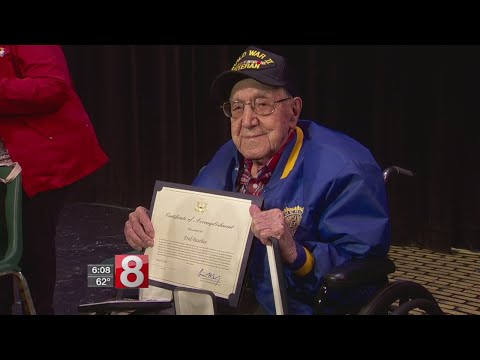 101-year-old WWII veteran finally receives service medals