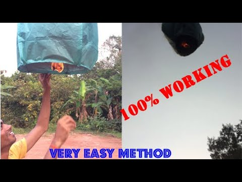 How to make easy sky lantern