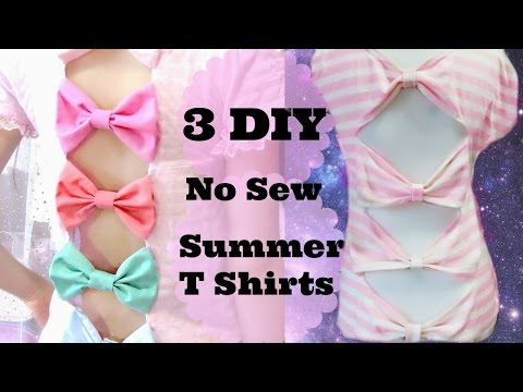 3 DIYs/Ideas T shirts for Summer | No Sew & Easy & Quick