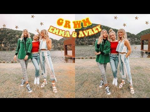 GRWM ft. Emma Chamberlain + Avrey Ovard!