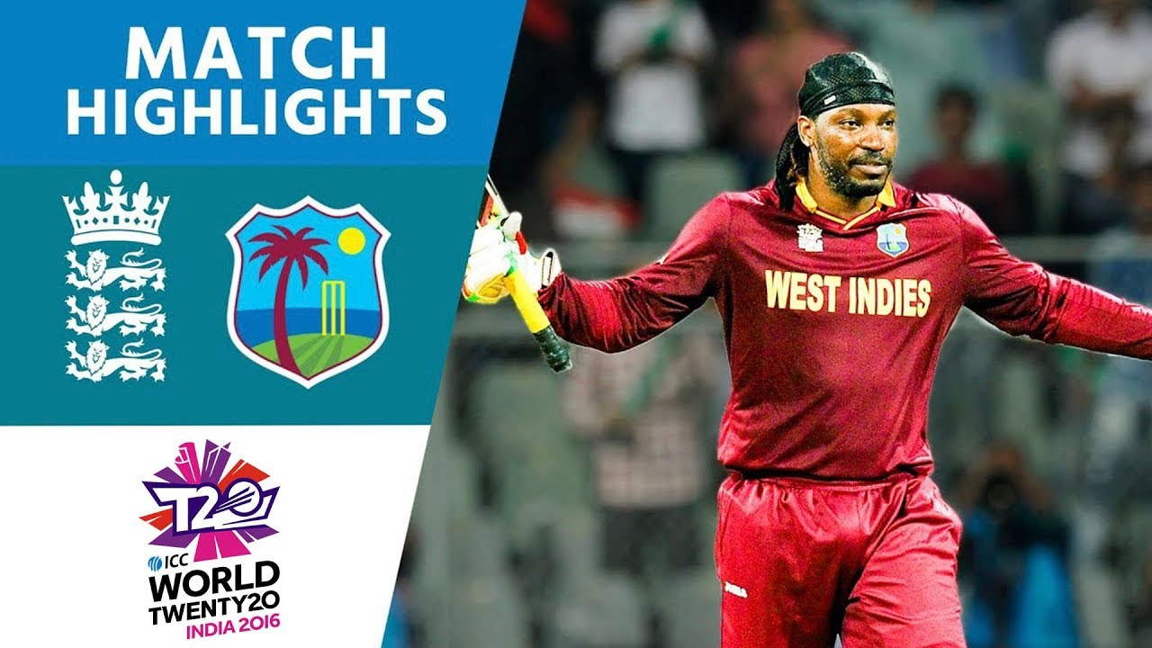 Gayle Smashes 100 Off 47 in Easy Win | England vs West Indies | ICC Men's #WT20 2016 - Highlights