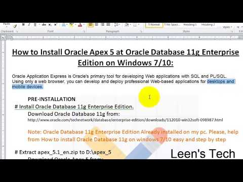 Oracle Apex 5 Tutorial in Bangla #1: INSTALL Oracle Apex 5 at Oracle Database 11g Enterprise Edition