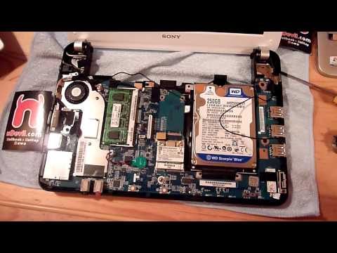 Sony Vaio M Netbook RAM and HDD Upgrade Tutorial