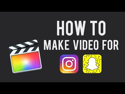 How to make videos for Instagram story or Snapchat (in Final Cut Pro)