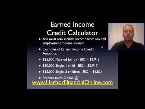 2012, 2013 Earned Income Credit Calculator