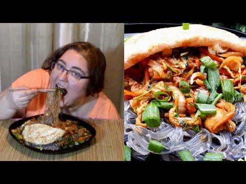 Sweet Potato Noodles (JAPCHAE) | Gay Family Mukbang (먹방) - Eating Show