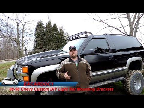 88-98 Chevy Custom Light Bar Roof Mount Brackets DIY (How to)