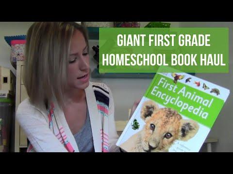Giant Homeschool Book Haul | 1st Grade Curriculum