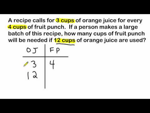 Ratio Word Problems - Using Ratio Tables To Solve