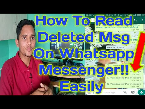 How To Read Deleted Message On Whatsapp Messenger | Easily Within 1min.!!