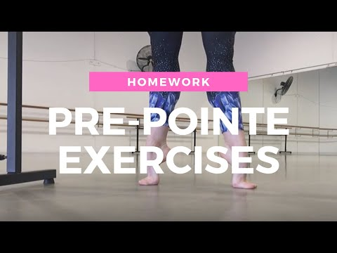 Pre-Pointe Exercises you can do at home (!) for all ballet students...
