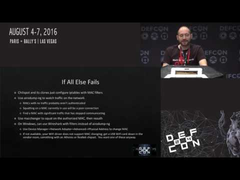 DEF CON 24 - Grant Bugher - Bypassing Captive Portals and Limited Networks