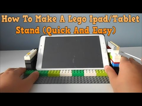 How To Make A Lego Ipad/Tablet Stand (Quick And Easy)