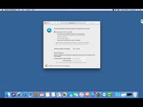 macOS Bug Demo of No Password to Unlock App Store System Prefs
