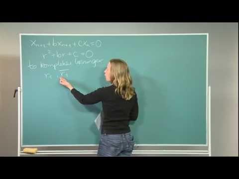 Mattesnutter 11/17 Andre ordens lineære homogene differenslikninger