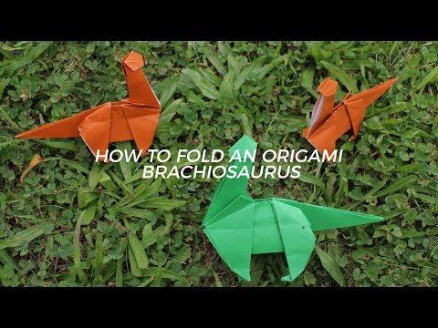 How To Fold A Brachiosaurus
