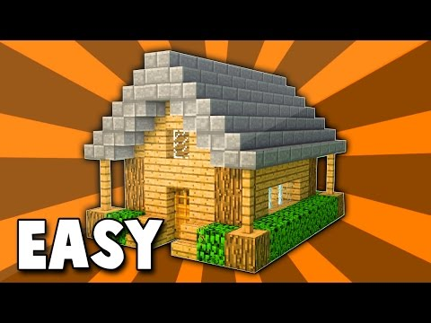 (#1) Minecraft: How To Build A Small Wooden Survival House Tutorial (Easy) - Xbox/Playstation/PC