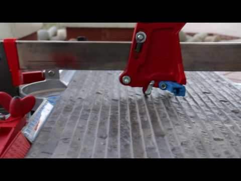 Cutting extremely textured porcelain tile with a manual tile cutter