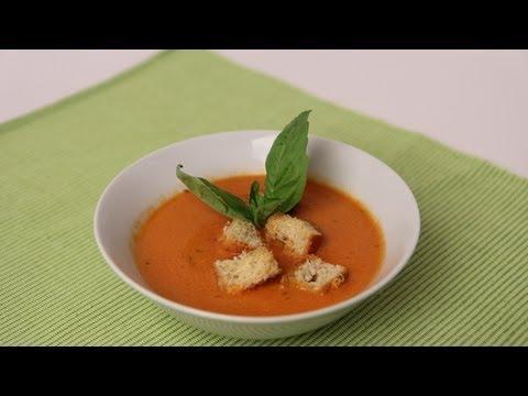Homemade Tomato Soup Recipe - Laura Vitale - Laura in the Kitchen Episode 454