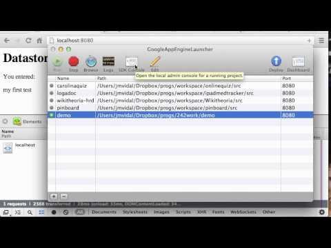 Google App Engine Datastore Tutorial