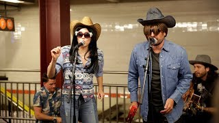 Miley Cyrus And Jimmy  Fallon Go UNDERCOVER In NYC Subway, Discuss Quitting Weed