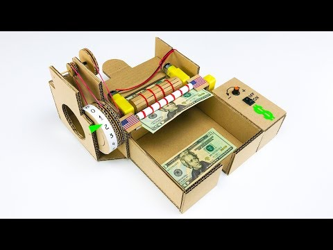 How to Build Money Counting Machine from Cardboard