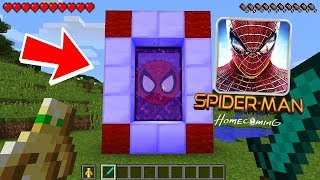 HOW TO MAKE A PORTAL TO THE SPIDERMAN DIMENSION - MINECRAFT SPIDERMAN