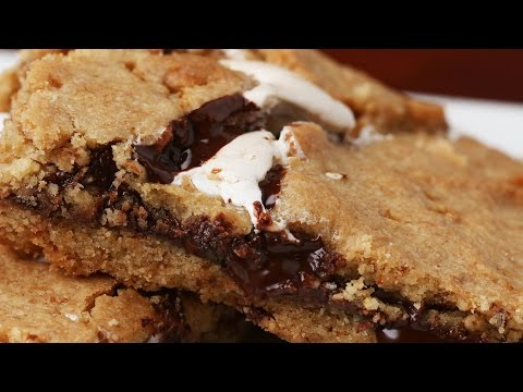 Chocolate Hazelnut S'mores Bars