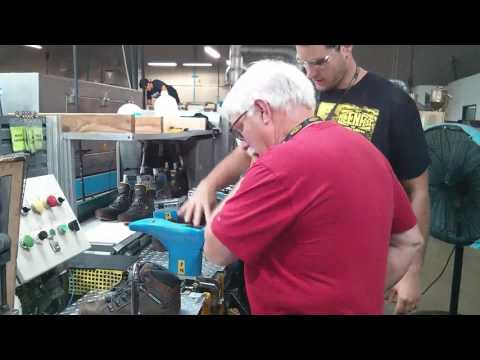 Tim Carter Working KEEN Utility Assembly Line