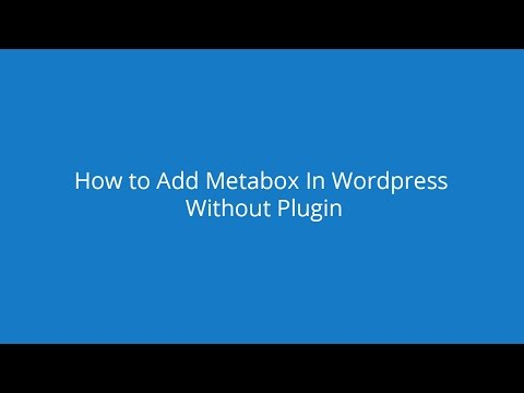 How to save meta box data to database (advance metabox tutorial in Bangla)