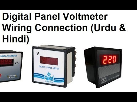 Digital Panel Voltmeter 0-550v Wiring For 3 Phase/Single Phase (Urdu & Hindi)