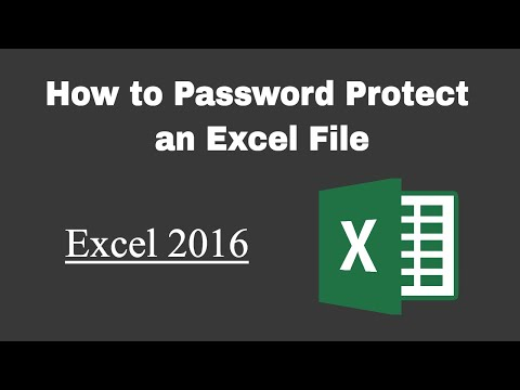Password Protect Excel File: How to Save a Workbook With a Password