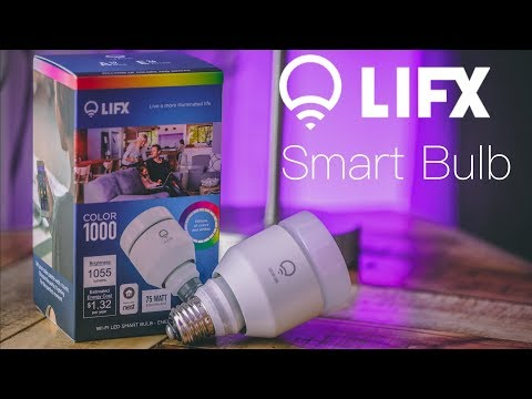 LIFX Color WiFi Smart Bulb Full Review  -  Echo Compatible Worth Every Penny (4K)