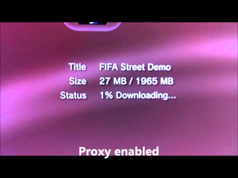 Speed up slow PlayStation download speeds with a proxy