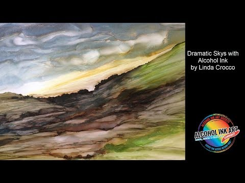 Alcohol Ink Art Technique - Dramatic Skies