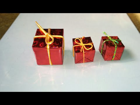 How to make a miniature gift box | Make In Minutes | Gift box kaise banaye |
