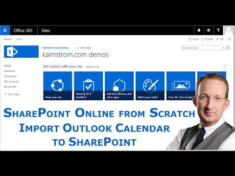 Import an Outlook Calendar to SharePoint