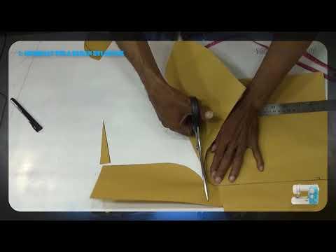 Belajar cara membuat pola baju dan menjahit blus menggunakan mesin jahit portable BAGIAN 1