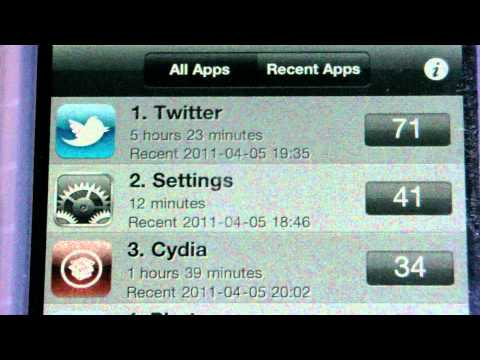 Find Out How much and How long do you use you iPhone apps