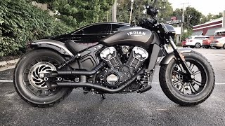2018 Indian Scout Bobber GP Style Exhaust Sound Clip/Drive By