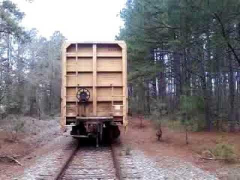 Defunct railroad track in Sparta Ga