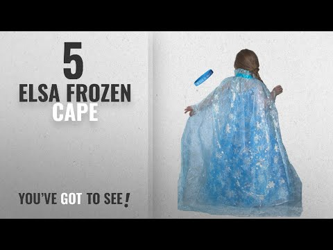 Top 10 Elsa Frozen Cape [2018]: Frozen Inspired Ice Princess Shimmering Snowflake Cape with Let It