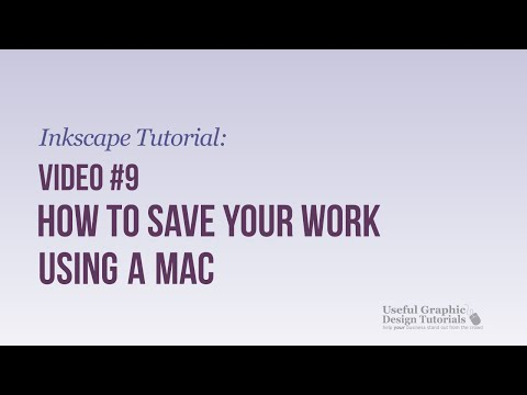 Saving your created Graphic in Inkscape on a Mac - Inkscape Tutorial - Video 9 -